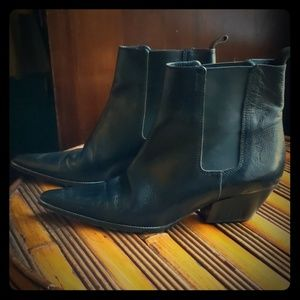 Michael Kors Leather Cowboy boots